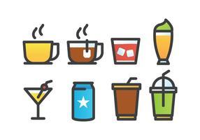 Pacote de ícones de bebidas vetor