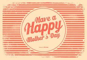 Ilustração Dia da Mãe Estilo Retro vetor