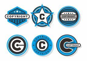 Direitos autorais selos Vector Set