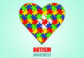 Poster da consciência do autismo vetor