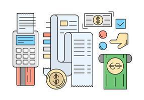 Ícones de pagamento lineares gratuitos vetor