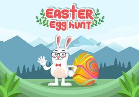 Background Easter Egg caça Vector