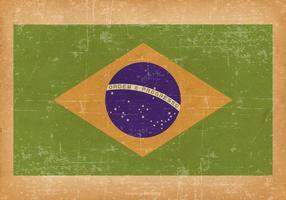 Bandeira do Grunge de Brasil vetor