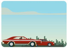 Dodge charger 1970 vs dodge charger srt8 vector