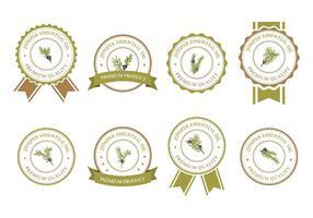 Vetor de emblemas de zimbro