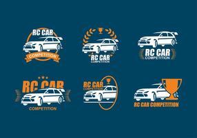 Competição do carro RC Logo Vector grátis