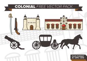 Colonial gratuito Pacote Vector