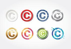 Vector de símbolos de direitos autorais