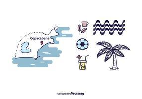 Conjunto de ícones de Copacabana vetor