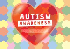 Poster Amor consciência do autismo vetor