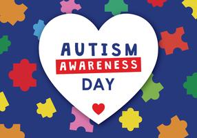 Poster Dia consciência do autismo vetor
