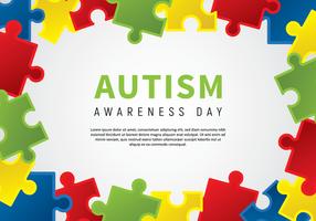 Poster autismo Dia Awarness vetor