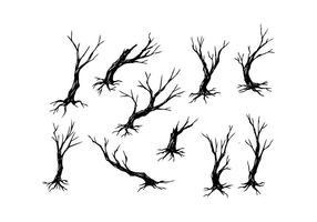 Vector árvore livre silhueta