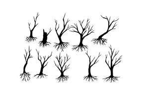 Livre Vector Silhueta da árvore