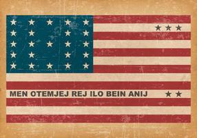 Bandeira de Grunge de Atol de Bikini vetor