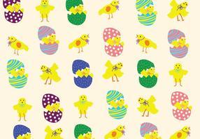 Padrão Easter Chick vetor