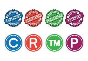 Direitos autorais símbolos Jogo vetor