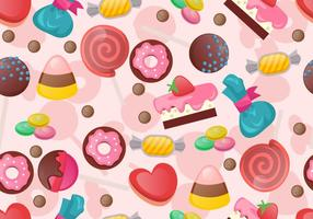 Teste padrão sem emenda de doces doces vetor