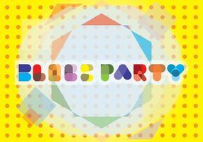 Background Block Party Tipografia vetor