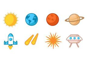 Free Vector Astronomy Icons Collection