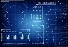 Futurista HUD interface Set vetor