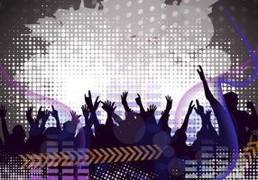 Bloquear o vetor do partido com efeito do grunge