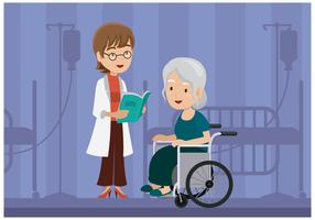 Fisioterapeuta livre Ilustração