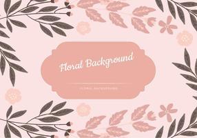 Fundo rosa Floral Vector
