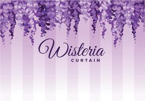 Pendurado Wisteria Vector Background