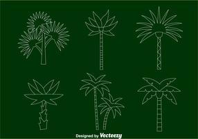 Palmeira vetores de linha