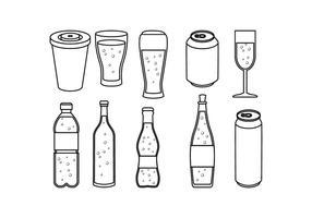 Livre macio Vector Icon Linha Bebida