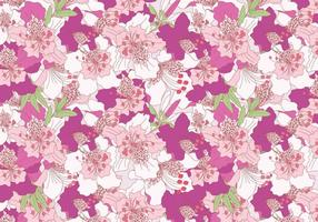 Rhododendron rosa Vector Pattern
