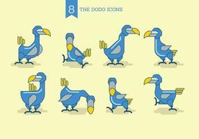 O Conjunto de Dodo Icons vetor