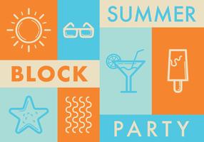 Block Party verão vetor