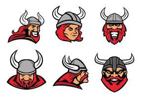 Viking Mascote Vector Grátis