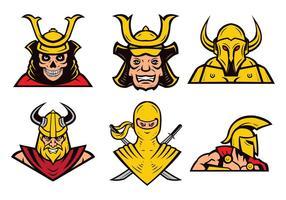 Free Vector guerreiros Mascot