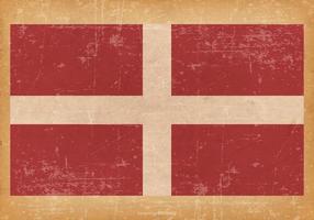 Bandeira da Soberana Ordem Militar de Malta no fundo do grunge vetor