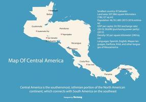 América Central Mapa Ilustração vetor