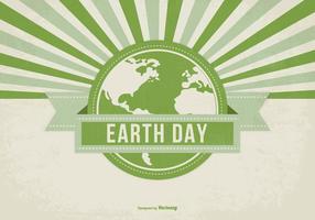 Ilustração do Dia da Terra Estilo Retro vetor