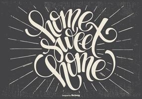 Ilustração tipográfica Home Sweet Home vetor