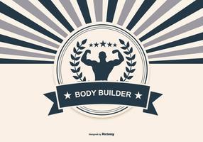 Retro Body Building Ilustração vetor