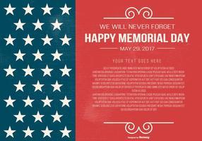 Modelo do Memorial Day vetor