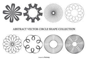 Coleção abstrata da forma do círculo