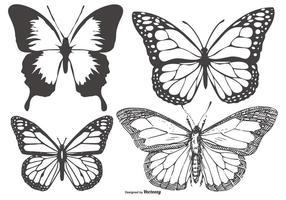 Coleção da borboleta do vintage / Mariposa vetor