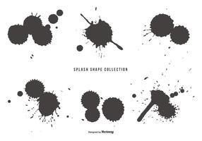 Splash Shapes Coleção vetor