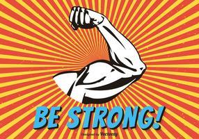 Bíceps, flex, braço, vetorial vetor