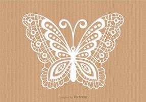 Cartão de papel reciclado com corte a laser Mariposa vetor
