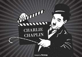 Poster do poster retro de Charlie Chaplin vetor