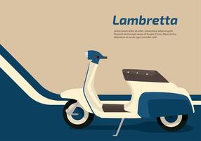 Lambretta Azul Vector Livre