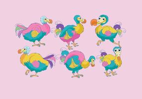 Vector Dodo colorido